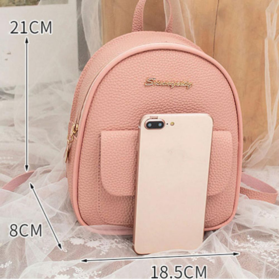 Mini Backpack Leather Shoulder Bag Backpacks Ptgirl BAG Store