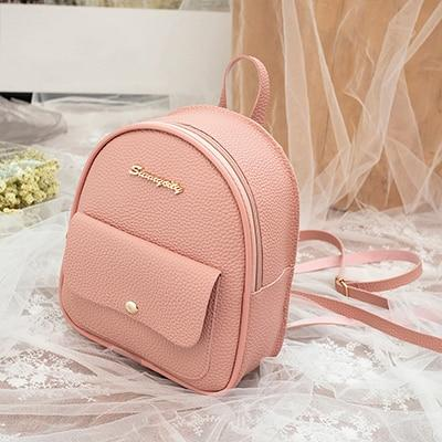Mini Backpack Leather Shoulder Bag Backpacks Ptgirl BAG Store Pink