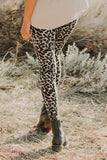 Necessary brown hollow out leopard print leggings Leggings Teal Demeter