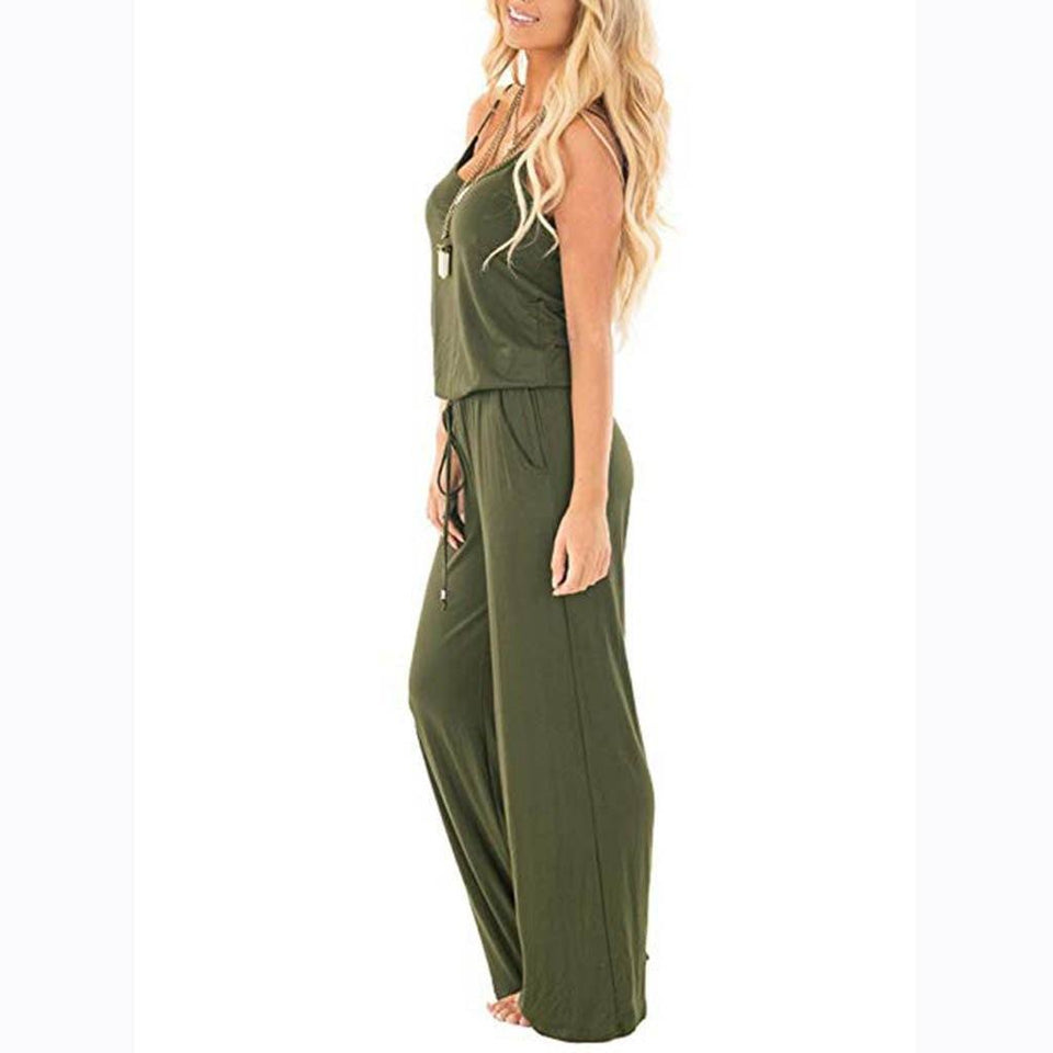 Necessary Casual Loose Long Jumpsuit Jumpsuits Spicy Street Store