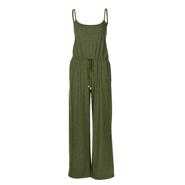 Necessary Casual Loose Long Jumpsuit Jumpsuits Spicy Street Store Army Green S