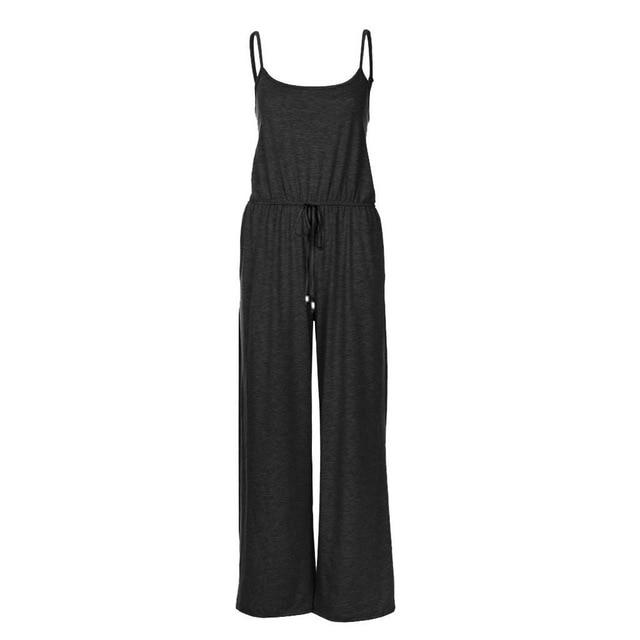 Necessary Casual Loose Long Jumpsuit Jumpsuits Spicy Street Store Black S