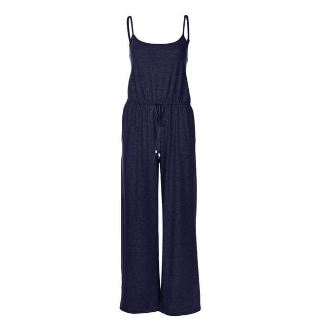 Necessary Casual Loose Long Jumpsuit Jumpsuits Spicy Street Store Navy S