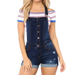Necessary Denim Casual Full Button Romper Rompers MIUS Store