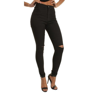 Necessary High Waist Ripped Skinny Jeans Jeans Fascination Store