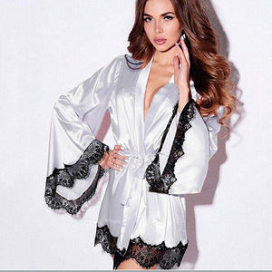 Necessary Lace Fringed kimono Robe Sleepwear northfashion
