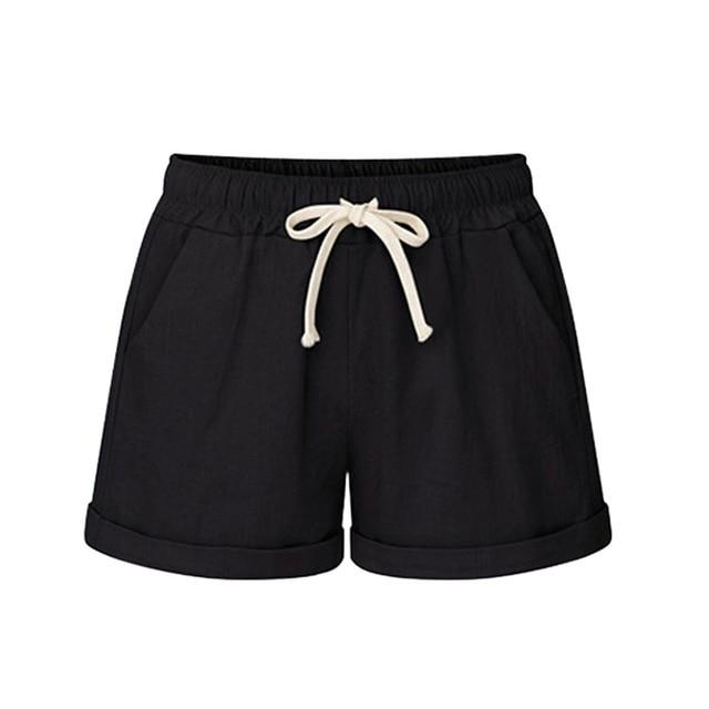 Necessary Plus Size Casual Drawstring Running Shorts Shorts MUQGEW YIYIGE Store Black M