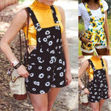 Necessary Plus Size Floral Print Sleeveless Romper Rompers Old-Friends Store