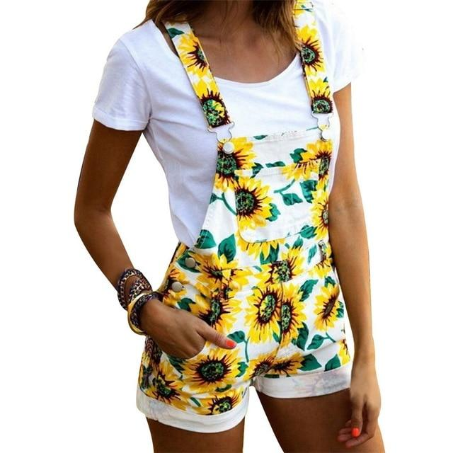 Necessary Plus Size Floral Print Sleeveless Romper Rompers Old-Friends Store White S
