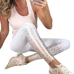 Necessary Print Slim Fitness Leggings Leggings Necessary Clothing Online 2 white S