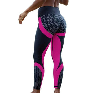 Necessary Print Slim Fitness Leggings Leggings Necessary Clothing Online 4 rose red S