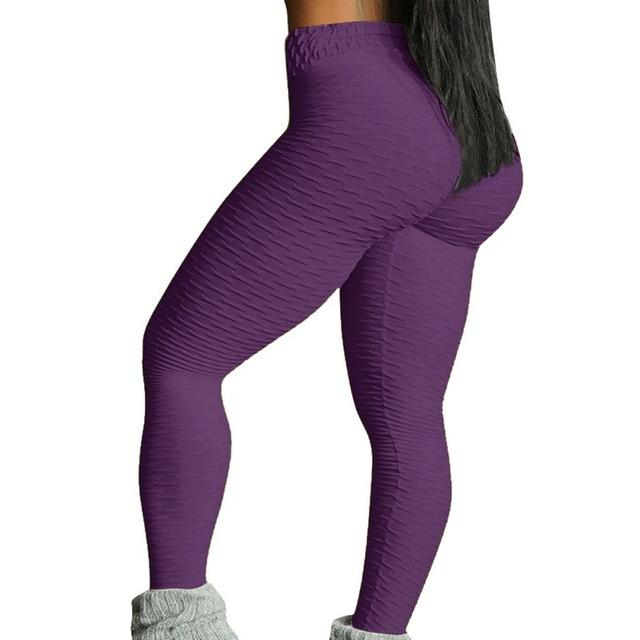 Necessary Push up High Waist Pocket Workout Leggings Leggings Wardrobe of Princess Store purple-2 S