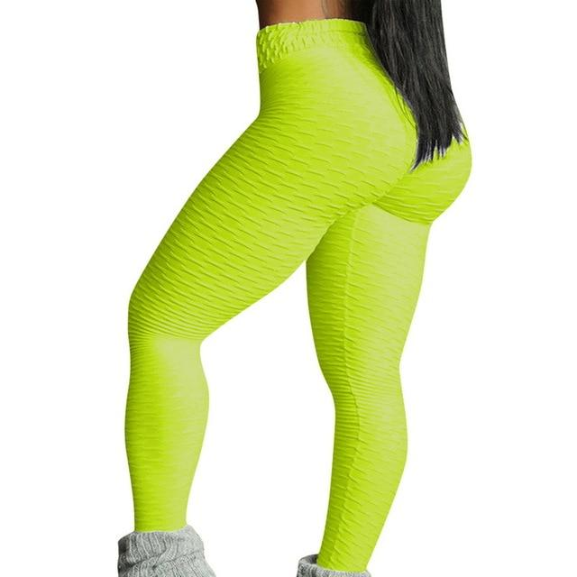 Necessary Push up High Waist Pocket Workout Leggings Leggings Wardrobe of Princess Store yellow-2 S