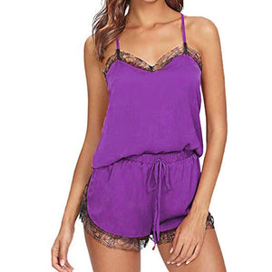 Necessary Sleeveless Lace Trim Babydoll Sleepwear Sleepwear BT Ropa Store Store