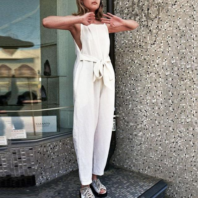 Necessary Summer Fashion Sleeveless Loose Jumpsuit Jumpsuits Adorn Neatnew Store WH S