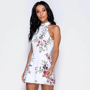 Necessary Summer Print High Neck Floral Romper Rompers Adorn Neatnew Store