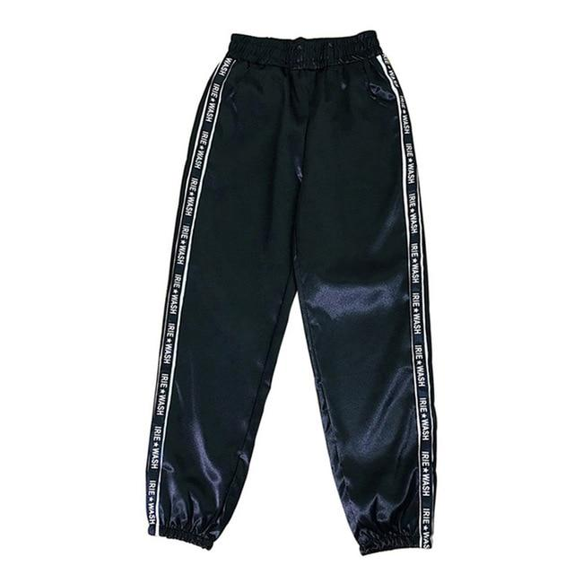 Party Girl Satin Joggers Pants & Capris Joggers Drop Shipping Store A black S