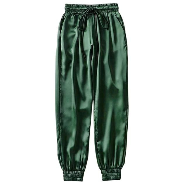 Party Girl Satin Joggers Pants & Capris Joggers Drop Shipping Store B green S