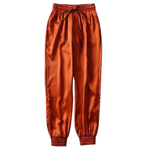 Party Girl Satin Joggers Pants & Capris Joggers Drop Shipping Store B orange S