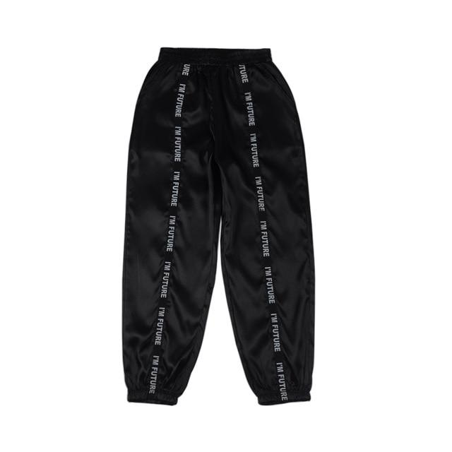 Party Girl Satin Joggers Pants & Capris Joggers Drop Shipping Store C black S