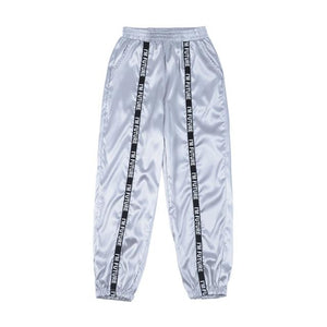 Party Girl Satin Joggers Pants & Capris Joggers Drop Shipping Store C gray S