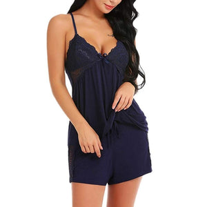 Sleeveless Cami Top and Bottom Lingerie Sleepwear Pajama Sets Kaloman Store