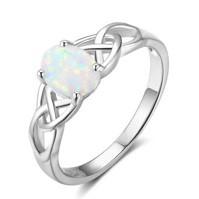 Sterling Braided Opal Ring Rings Lam Hub Fong Official Store