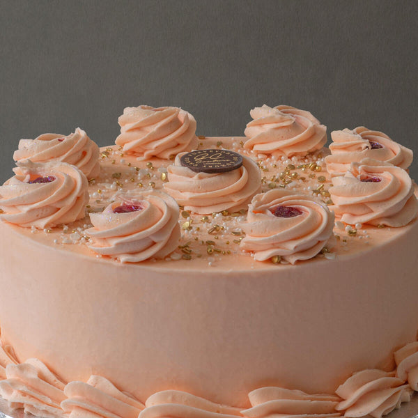 Strawberry & Champagne Sponge Cake