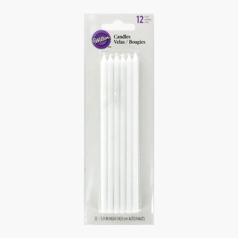 White Candles (Box of 12)