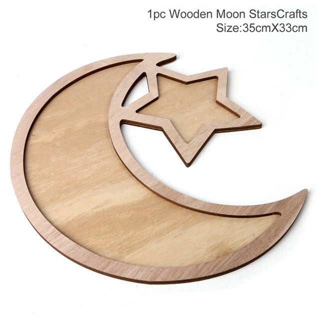 Ramadan Decorations Moon Star LED Light String Islamic Muslim Party Decor
