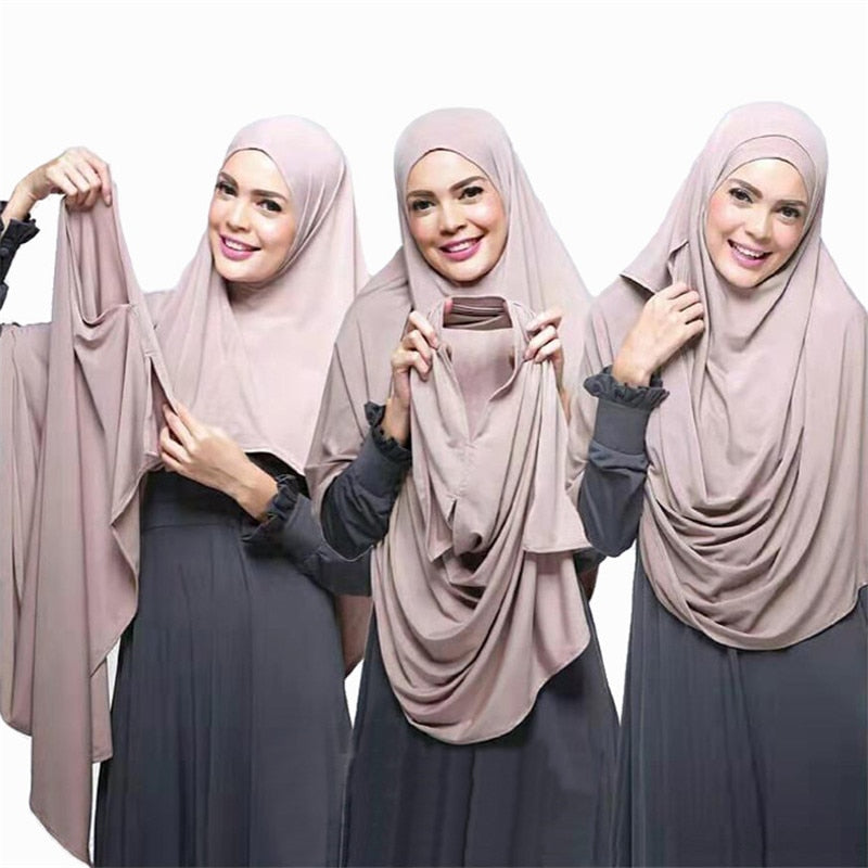 Chiffon Double Loop Hijab Muslim Women Apparel
