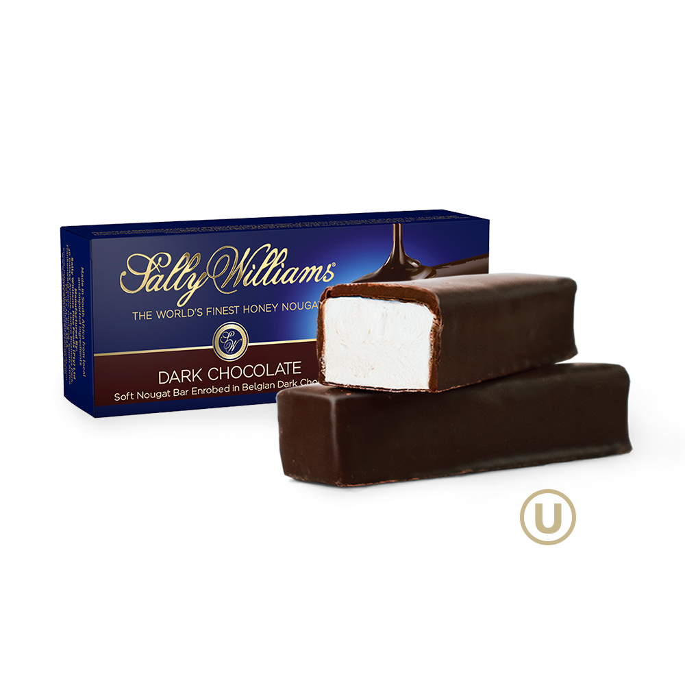 Belgian Dark Chocolate Enrobed Nougat - 1.76oz Bar (Nut Free)