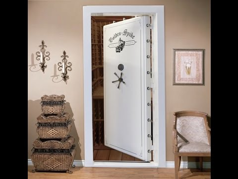 Golden Spike Vault Door In Swing