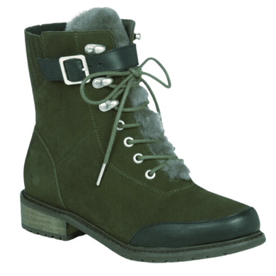 Waterproof Suede women's winter boot in Dark Olive | The Bower Tasmania