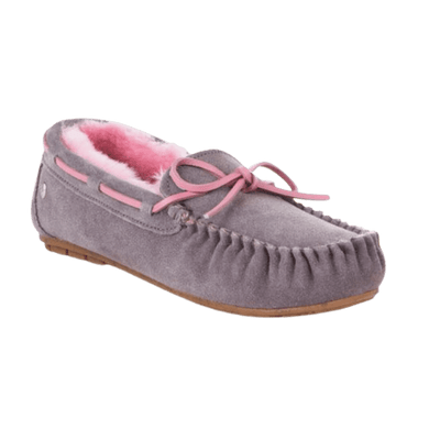 Moccasin Slipper in Ash/Pink | The Bower Tasmania
