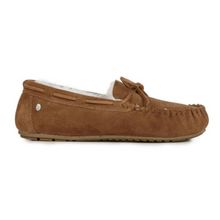 Load image into Gallery viewer, Moccasin Slipper in Chestnut inside view | The Bower Tasmania