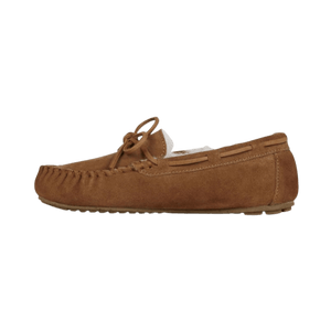 Moccasin Slipper in Chestnut outside view | The Bower Tasmania