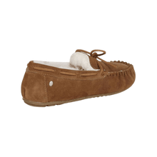 Load image into Gallery viewer, Moccasin Slipper in Chestnut back view | The Bower Tasmania