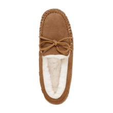 Load image into Gallery viewer, Moccasin Slipper in Chestnut top view | The Bower Tasmania