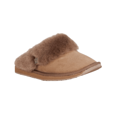 Sheepskin & Merino slipper in Mushroom | The Bower Tasmania