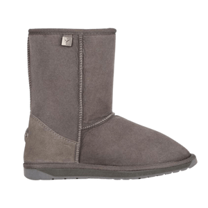 Calf Height Ugg Boot in Charcoal Side View | The Bower Tasmania