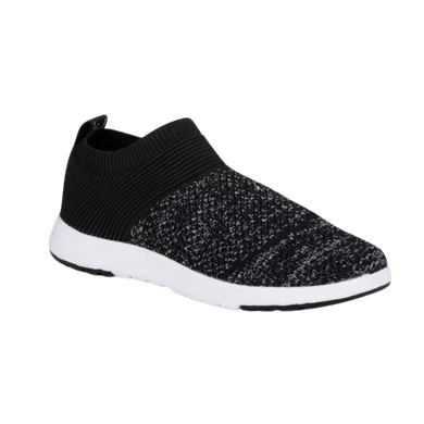 Slip on women's sneaker in black | The Bower Tasmania