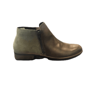 Women's ankle boot with dual zip in olive pecan | The Bower Tasmania