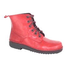 Load image into Gallery viewer, Lace up boot in Poppy, side view | The Bower Tasmania