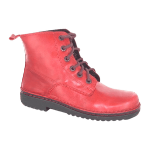 Lace up boot in Poppy, side view | The Bower Tasmania