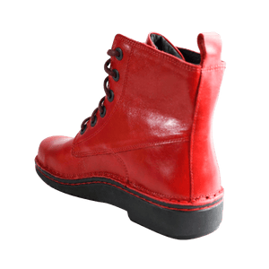 Lace up boot in Poppy, back view | The Bower Tasmania