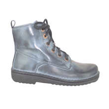 Load image into Gallery viewer, Lace up boot in Ash Grey, side view | The Bower Tasmania