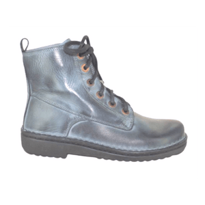 Lace up boot in Ash Grey, side view | The Bower Tasmania