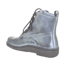 Load image into Gallery viewer, Lace up boot in Ash Grey, back view | The Bower Tasmania