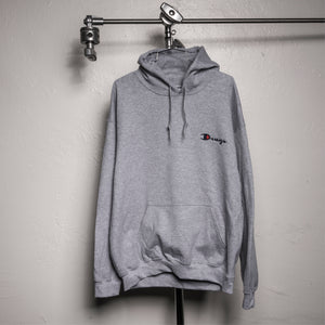 DRUG CHAMP Embroidered Hooded Sweatshirt - Athletic Grey